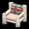 Log Chair (White Birch - Geometric Print) NH Icon.png