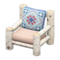 Log Chair (White Birch - Quilted) NH Icon.png