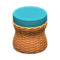 Rattan Stool (Reddish Brown) NH Icon.png