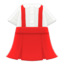Skirt with Suspenders (Red) NH Icon.png