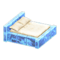 Frozen Bed (Ice Blue - White) NH Icon.png