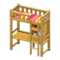 Loft Bed with Desk (Natural - Red Stripes) NH Icon.png