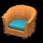 Rattan Armchair (Reddish Brown)