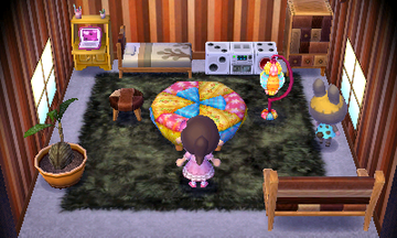 Interior of Bonbon's house in Animal Crossing: New Leaf