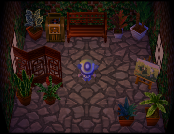 Interior of Boots's house in Animal Crossing