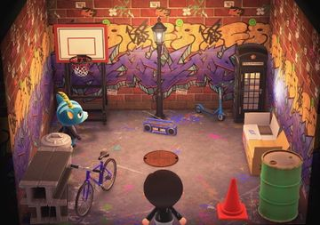 Interior of Bruce's house in Animal Crossing: New Horizons