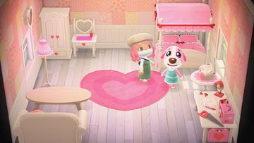 Interior of Cookie's house in Animal Crossing: New Horizons