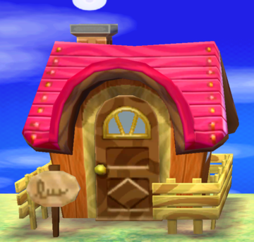 Exterior of Norma's house in Animal Crossing: New Leaf