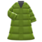 Long Down Coat (Green) NH Icon.png