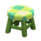 Wooden Stool (Green - Green) NH Icon.png