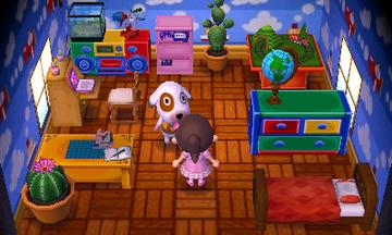 Interior of Bones's house in Animal Crossing: New Leaf