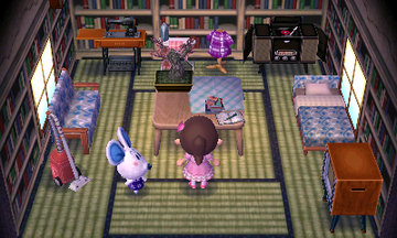 Interior of Dora's house in Animal Crossing: New Leaf