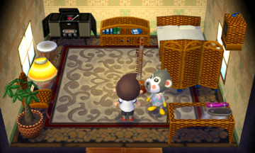 Interior of Shari's house in Animal Crossing: New Leaf