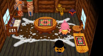 Interior of Hopper's house in Animal Crossing: City Folk