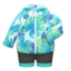 Leaf-Print Wet Suit