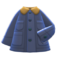Coverall Coat (Navy Blue) NH Icon.png