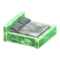 Frozen Bed (Ice Green - Gray) NH Icon.png
