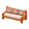 Log Extra-Long Sofa (Orange Wood - Southwestern Flair) NH Icon.png