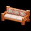 Log Extra-Long Sofa (Orange Wood - Southwestern Flair)