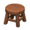 Wooden Stool (Dark Wood - None) NH Icon.png