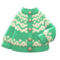 Yodel Cardigan (Mint) NH Icon.png