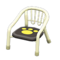 Baby Chair (White - Paw Print) NH Icon.png