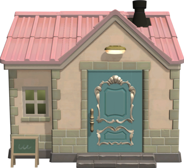 Exterior of Merry's house in Animal Crossing: New Horizons