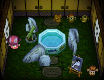 Interior of Otis's house in Animal Crossing