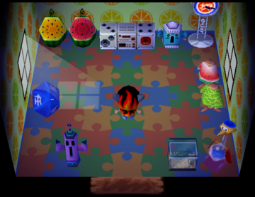 Interior of Samson's house in Animal Crossing
