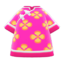 Silk Floral-Print Shirt (Pink) NH Icon.png