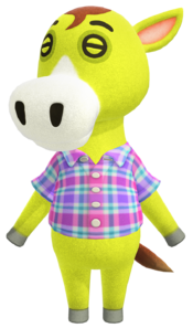 Clyde, an Animal Crossing villager.