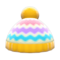 Colorful Striped Knit Cap (Yellow) NH Icon.png