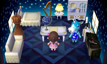 Interior of Julian's house in Animal Crossing: New Leaf