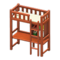 Loft Bed with Desk (Brown - White) NH Icon.png