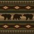 Log Decorative Shelves with the Bears pattern applied.