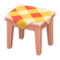 Wooden Mini Table (Pink Wood - Orange) NH Icon.png