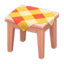 Wooden Mini Table (Pink Wood - Orange)