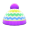 Colorful Striped Knit Cap (Purple) NH Icon.png