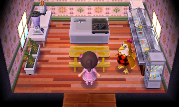 Interior of Ava's house in Animal Crossing: New Leaf