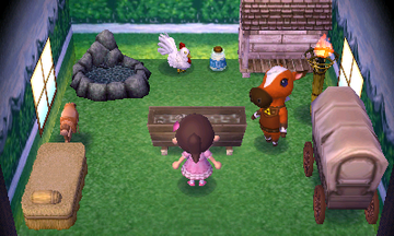 Interior of Epona's house in Animal Crossing: New Leaf
