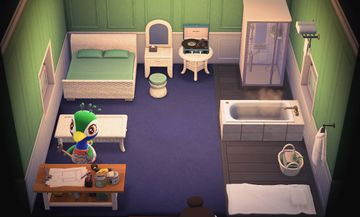 Interior of Julia's house in Animal Crossing: New Horizons