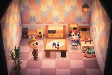 Interior of Papi's house in Animal Crossing: New Horizons