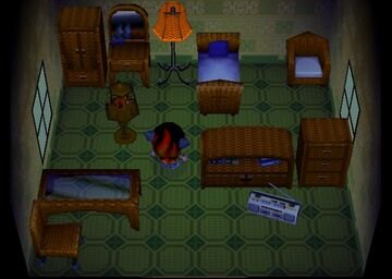 Interior of Patty's house in Animal Crossing