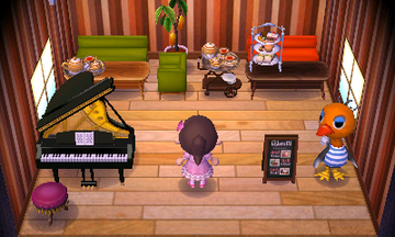 Interior of Sandy's house in Animal Crossing: New Leaf