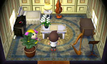 Interior of Willow's house in Animal Crossing: New Leaf