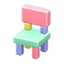 Wooden-Block Chair (Pastel)