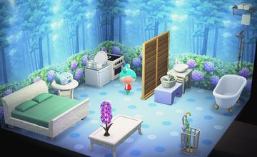 Interior of Lily's house in Animal Crossing: New Horizons