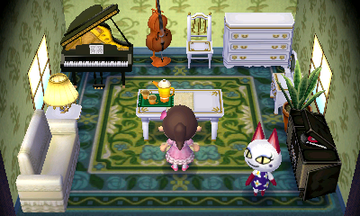 Interior of Olivia's house in Animal Crossing: New Leaf