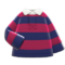 Thick-Stripes Shirt (Rose Red & Navy) NH Icon.png