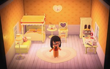 Interior of Bonbon's house in Animal Crossing: New Horizons